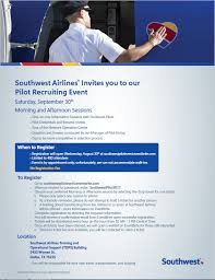 pilot recruiting event information the southwest airlines community