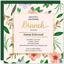 birthday brunch invitation 40th birthday invitations
