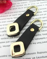 10pcs leather Zipper Pull with gold decor for NO 5&8 zip Zip