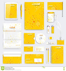 yellow set of vector corporate identity template modern medical
