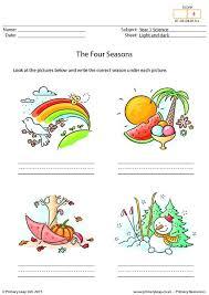 primaryleap co uk writing the four seasons worksheet