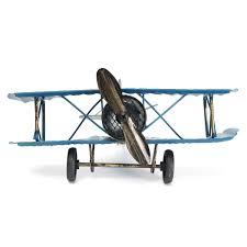 airplane home decor large retro blue plane airplane aircraft model home decor ornament