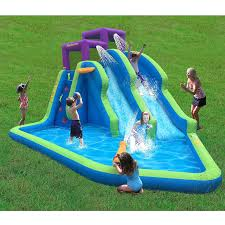 amazon com magic time twin falls outdoor inflatable splash pool