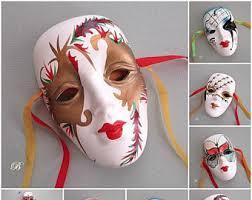 ceramic mardi gras masks for sale ceramic masks etsy