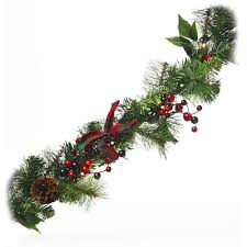 decor eilko pre lit garland with led lights and berry
