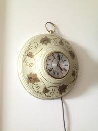 country style wall clock primitive metal for sale in brooklyn ny