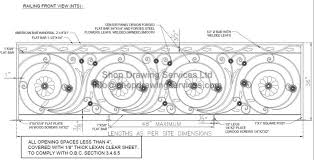 custom ornamental railing shop drawings