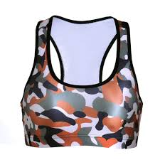 army pattern crop top 3 patterns new arrival active camouflage women running top plus size