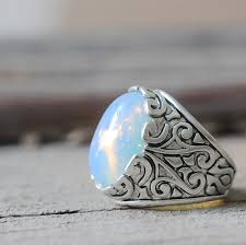 opal stones rings images 2018 oval white opal stone lapis lazuli ring victorian style jpg