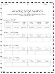 rounding to the nearest thousand worksheet rounding worksheets