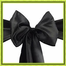 sashes for sale 100pcs black satin chair sash wedding chair cover sash for sale