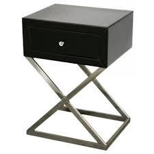 Black Side Table Architecture Black Bedside Table Bcktracked Info
