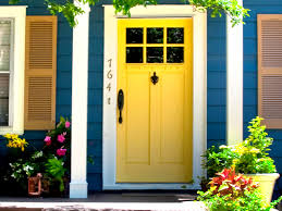 awesome blue wood house design chic inspiring and vibrant yellow