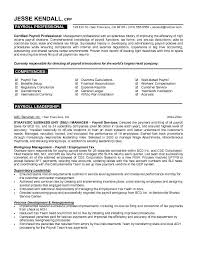 Resume Examples Finance by Free Payroll Professional Resume Example