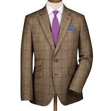 beige check summer tweed classic fit jacket men s blazers
