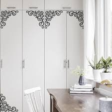 fake metal scroll wall art mural decor sticker window cabinet fake metal scroll wall art mural decor sticker window cabinet applique decal poster store glass decoration graphic black flowers