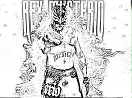 rey mysterio coloring pages chuckbutt com