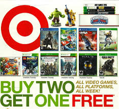 target black friday video game target pre black friday ad 11 9 11 15 buy 2 get 1 free game all
