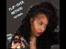 flip over method versatile sew in flip over method with curly hair ft star style