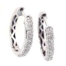 cheap diamond earrings buy 0 37 ct 18k white gold latch back diamond earrings online
