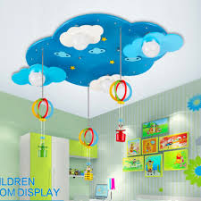 rainbow cloud lamp led ceiling lamp blue kids 110v 220v e27 bulb
