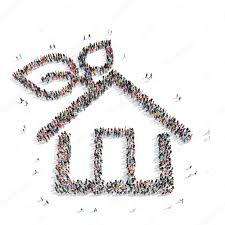 group people shape house ecology u2014 stock photo tai11 81169828