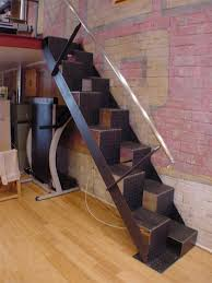Alternate Tread Stairs Design Steps To Saving Space 15 Compact Stair Designs For Lofts Urbanist