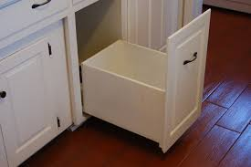 Kitchen Garbage Can Cabinet Trash Can Cabinet Build A Diy Pull Out Trash Can In A Kitchen