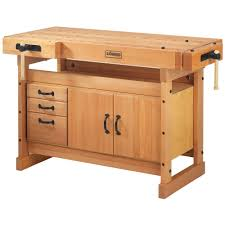 husky 4 ft solid wood top workbench with storage g4801s us the