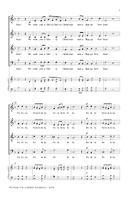 we wish you a merry madrigal satb by russ j w pepper sheet