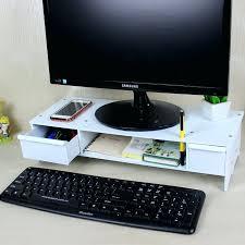Raised Desk Shelf Desk Dual Computer Monitor Desk Mount Computer Monitor Desk