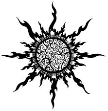tribal sun tattoos designs high quality photos and flash designs