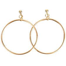 hoop clip on earrings jumbo hoop earrings clip on gold