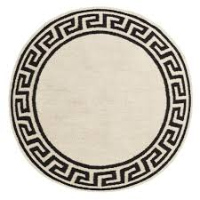 Outdoor Round Rug by Greek Key Border Round Rug By Jonathan Adler U2013 The Modern Shop