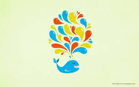 my grinning mind colorful swirls happy cartoon whale
