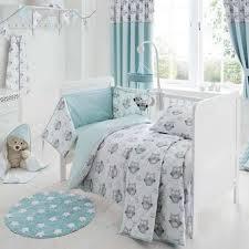 Childrens Cot Bed Duvet Sets Owls Nursery Cot Bed Duvet Cover And Pillowcase Set Dunelm