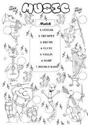 14 best images of musical instrument music worksheets for