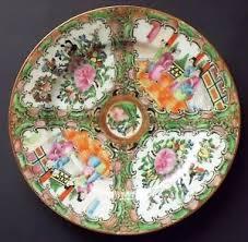 canton porcelain antique export famille canton porcelain medallion 8