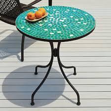 Mosaic Bistro Table Set Alfresco Home Vulcano Mosaic Outdoor Bistro Table Ultimate Patio