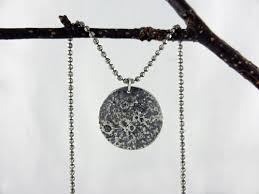silver moon necklace pendants images Silver moon necklace reticulated silver necklace png