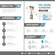 creative resume business profile cv vitae template layout flat