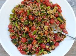 Roasted Vegetables Recipe by Farro With Roasted Vegetables And Roasted Tomato Dressing Recipe