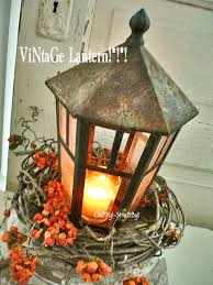 Lantern Centerpiece Chippy Shabby Re Purposed Vintage Lantern Centerpiece