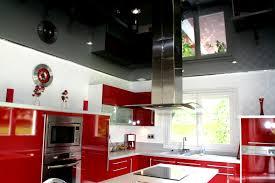 cuisine noir et rouge déco cuisine noir laque saint denis 1111 cuisine et