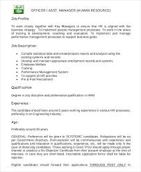 Hr Professional Resume Sample Hr Job Description For Resume Professional Resumes Sample Online