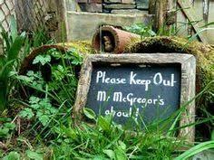mr mcgregor s garden rabbit painted mr mcgregor s garden sign by mainecoastcottage