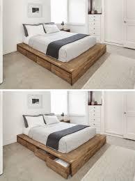 Bed Frame Diy Diy Platform Bed Storage Option Theringojets Storage