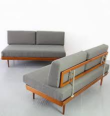 mid century modern daybed knoll antimott 50s danish teak sofa