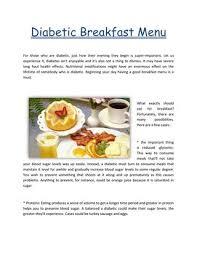 diabetic breakfast menus diabetic breakfast menu by healthyfastfoodbreakfast issuu