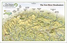 Map Of Rio Grande River New River Headwaters Panorama Map Boone North Carolina U2022 Mappery